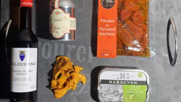 Mets et Vins : Rillettes de sardines à l'orientale sur chips de carotte